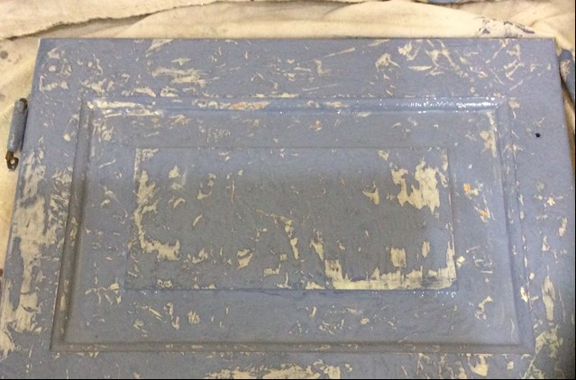 Frottage furniture painting technique