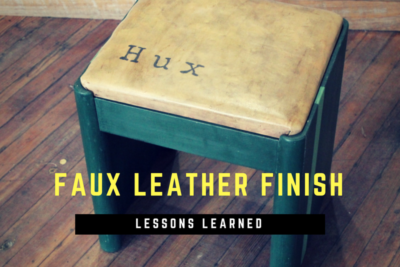 Lessons Learned Creating a Faux Leather Finish