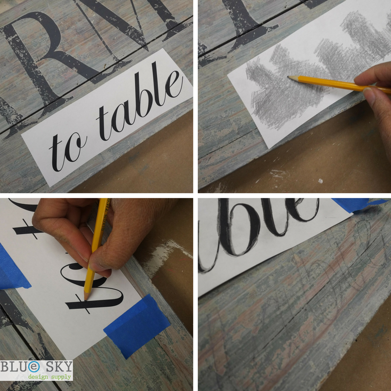 Letter transfer using pencil and paper